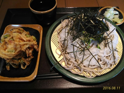 大根蕎麦+かき揚げ@花園蕎麦