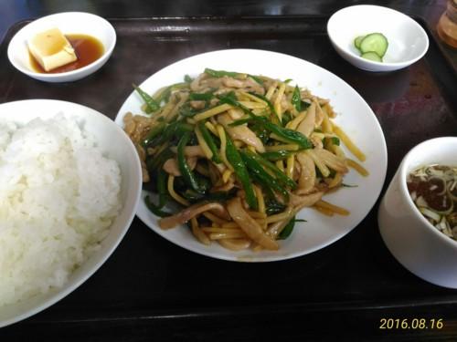肉とピーマンの炒め定食@東京亭
