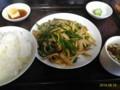 [東京亭]肉とピーマンの炒め定食@東京亭