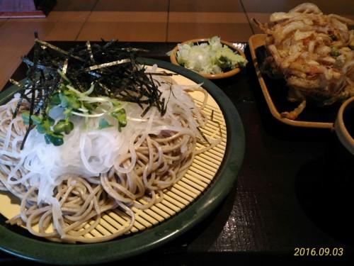 大根蕎麦大盛り+かき揚げ@花園蕎麦
