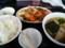 酢豚のラーメン餃子セット@東京亭
