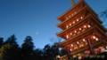 [空][寺]五重塔と月と金星