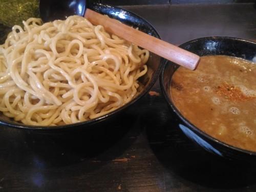 煮魚出汁つけ麺大盛@美豚