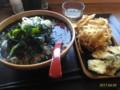 [☆][蕎麦][花園蕎麦]かけ大根蕎麦+かき揚げ+まいたけ天@花園蕎麦