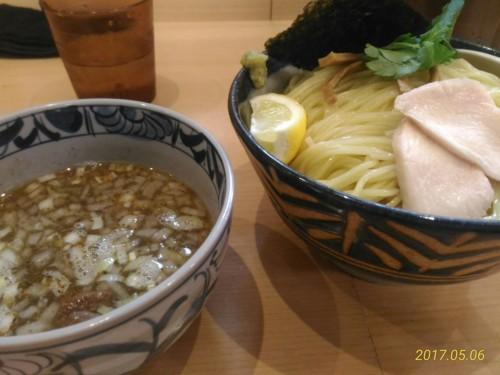 煮干し塩つけ麺大盛@纏