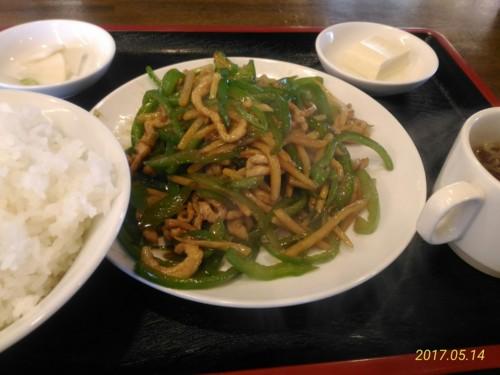 肉ピーマン炒め定食@南京亭