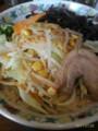 [哲麺][ラーメン][☆☆]野菜たっぷりラーメン+キクラゲ@哲麺