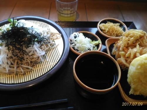大根蕎麦+かき揚げ+竹の子@花園蕎麦