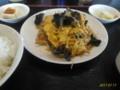 [南京亭][☆]キクラゲと卵の炒め物定食@南京亭(滝山街道