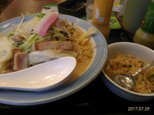 野菜たっぷりチャンポン+ミニチャーハン@リンガーハット