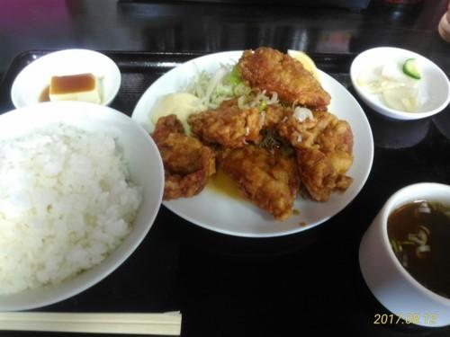 鶏の唐揚香味ソースかけ定食@東京亭