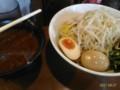 [哲麺][ラーメン][☆☆]つけ麺+味玉@哲麺