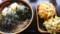 かけ大根蕎麦+かき揚げ+まいたけ天