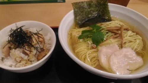 鶏塩そば+ミニチャーシュー丼