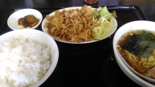 生姜焼きラーメン餃子セット(餃子撮り忘れ)