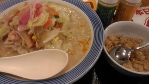 野菜たっぷりチャンポン+ミニチャーハン