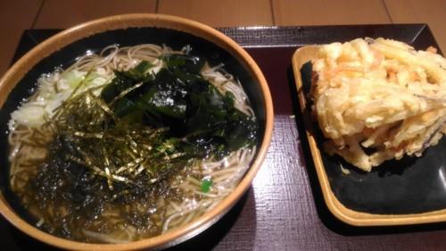 かけ大根蕎麦+搔き揚げ