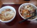[山田うどん][丼]野菜うどん&ミニかき揚げ丼