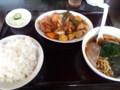[東京亭]酢豚とラーメン餃子定食
