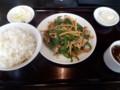 [東京亭][☆]肉ピーマン炒め定食