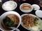 豚の焼肉とラーメン餃子セット