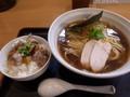 [ラーメン][纏][☆]鶏ラーメン+ミニチャーシュー丼