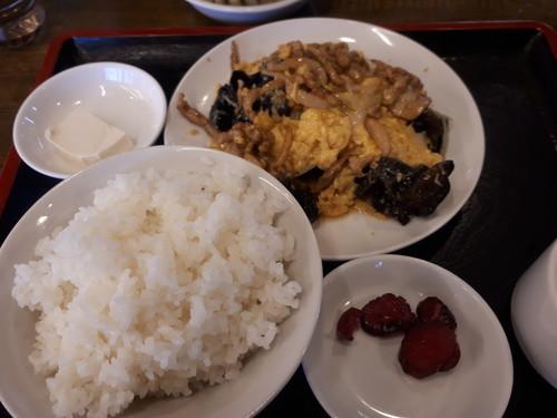 キクラゲと卵の炒め物定食@南京亭