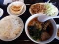 [東京亭][ラーメン]豚の生姜焼きとラーメン餃子セット@東京亭