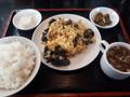 [南京亭][☆]キクラゲと卵の炒め物定食