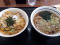 [山田うどん][蕎麦][丼]親子丼セット(温蕎麦)