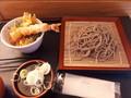 [農村レストラン][蕎麦][道の駅にしかた][☆☆][丼]手打ちそばミニ天丼