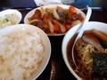 [東京亭][ラーメン]酢豚とラーメン餃子セット@東京亭