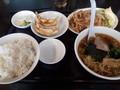 [東京亭][ラーメン]豚の焼肉とラーメン餃子セット