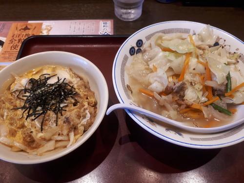 タンメン、ミニ玉子丼
