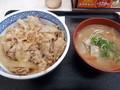 [吉野家][丼]豚丼、とん汁