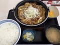 [吉野家]牛の鍋焼膳定食