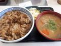 [吉野家][☆][丼]朝牛セット(並盛変更+豚汁変更)