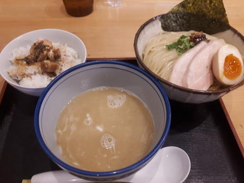 鶏塩つけ麺+ミニチャーシュー丼