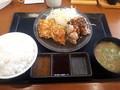 [からやま][☆]合い盛り定食(黒胡椒)