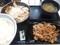 牛皿ねぎ塩豚定食