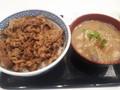 [吉野家][☆][丼]牛丼+とん汁