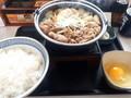 [吉野家][☆☆]牛すき鍋御膳