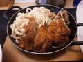 [かつや][カツ][☆☆]肉うどんチキンカツ定食