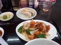[東京亭][ラーメン]酢豚とラーメン餃子セット(後から来た酢豚と餃子)