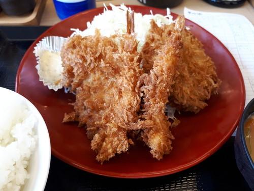 海老ヒレメンチカツ定食