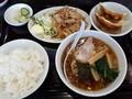 [東京亭][ラーメン]豚肉の焼肉とラーメン餃子セット