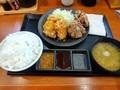 [からやま][☆☆]合盛定食(味噌から揚げ)