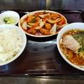 [東京亭][ラーメン]酢豚とラーメン餃子セット
