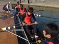 男子新人舵手つきフォア(清水・長谷川・南・新銀・塩崎)