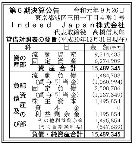 Indeed Japan株式会社 売上高